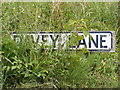 TM2556 : Davey Lane sign by Adrian Cable