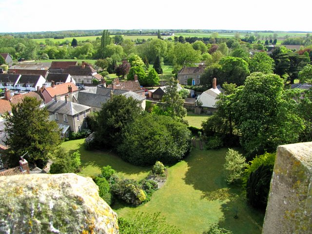 View south from St Mary's church tower