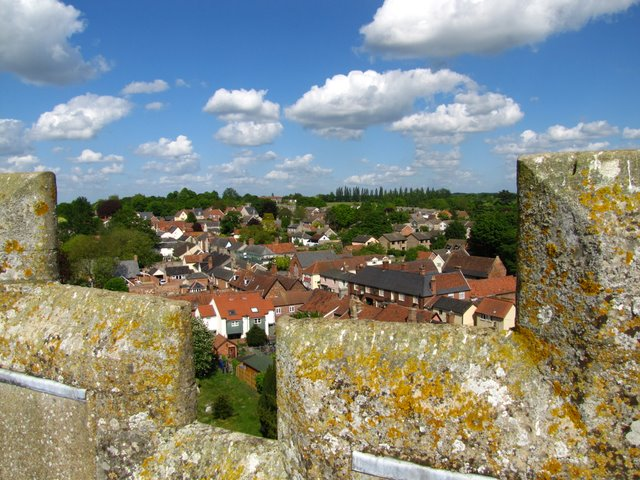 View north-east from St Mary's church tower