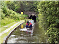 SD9701 : Narrowboat Approaching Scout Tunnel by David Dixon