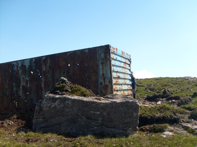 Disused cargo container