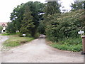 TM2761 : Bridleway to Rectory Road & entrance to Gatewood House by Adrian Cable