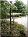 TM2763 : Earl Soham Lane Bridleway sign by Adrian Cable