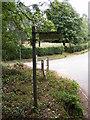 TM2763 : Earl Soham Lane Bridleway sign by Adrian Cable