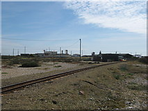 TR0916 : Romney, Hythe and Dymchurch railway and Britiannia Inn, Dungeness by David Anstiss