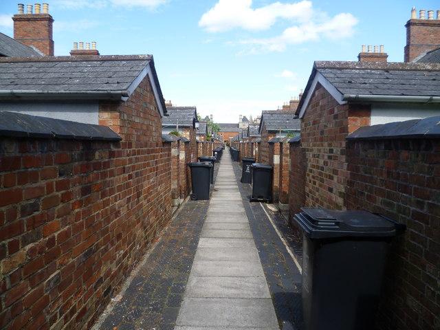Back alley, Swindon Railway Village