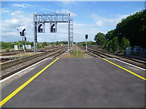 SU5290 : View from Didcot Parkway station by Marathon