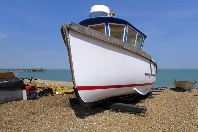 White Boat on the Beach, Deal