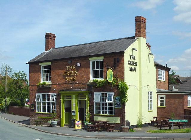 The Green Man at Swindon, Staffordshire
