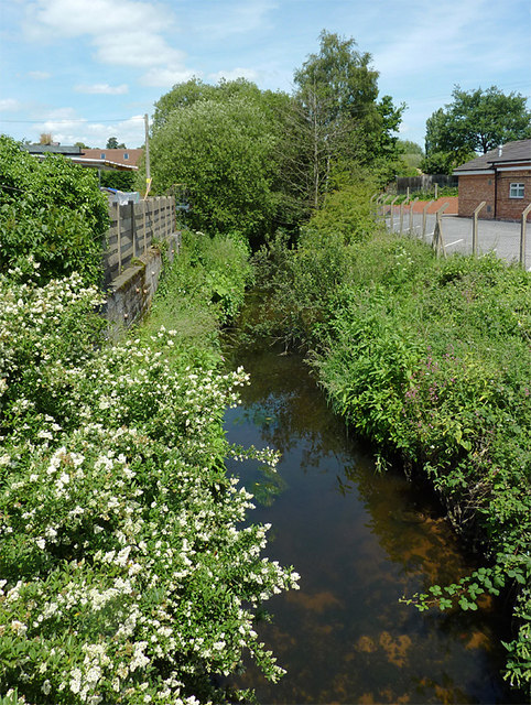 The Smestow Brook at Swindon, Staffordshire