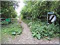 SP0749 : Footpath on Cleeve Hill ridge by Row17