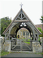 SP0846 : Lych gate at Middle Littleton church by Row17