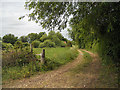 SP0848 : Track passing Island Barn by Row17