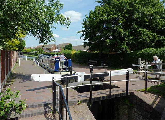 Swindon Lock near Wombourne, Staffordshire