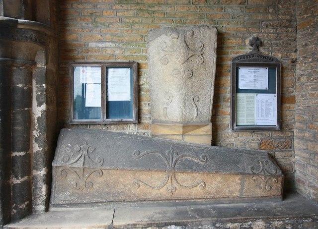 St Mary, Woodnewton - Coffin lids