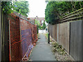 TQ3965 : Footpath approaching Bourn Way by Robin Webster