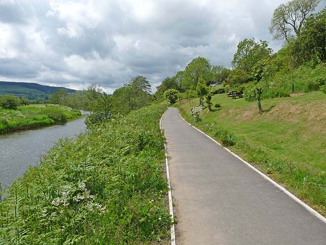 Path beside the River Coquet at Rothbury