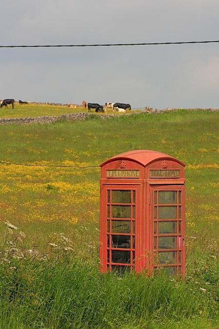 K6 Telephone Box beside the A515
