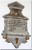 TF1505 : St Benedict, Glinton - Wall monument by John Salmon