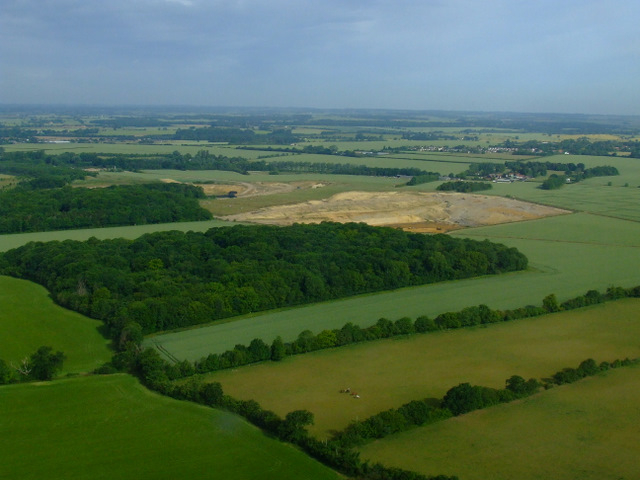 Pledgdon Wood from the air