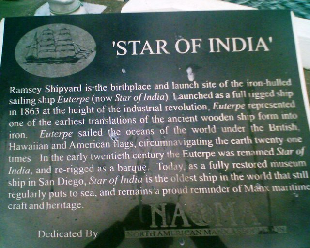 Star of India Plaque