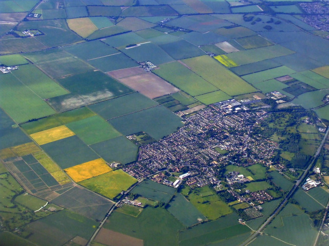 Melbourn from the air