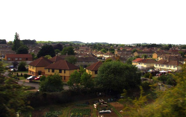 View across Chippenham from the train