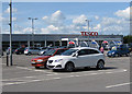 NZ4113 : Tesco car park, Egglescliffe by Pauline E