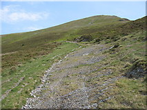 SN8295 : A rocky section of the Glyndwr's Way path by David Purchase