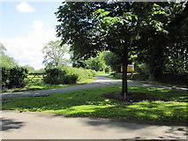 SK2640 : Lane Junction near Burrows Farm by Alan Heardman
