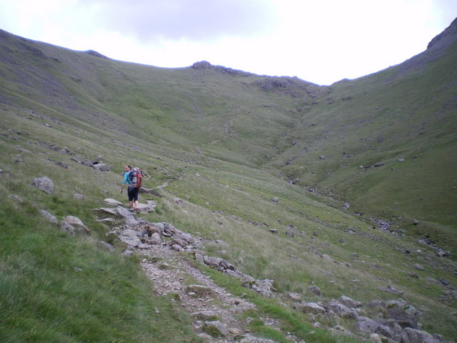 Walking up to Black Sail pass