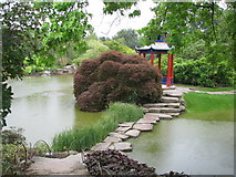 SU9185 : The water garden at Cliveden by Sarah Charlesworth