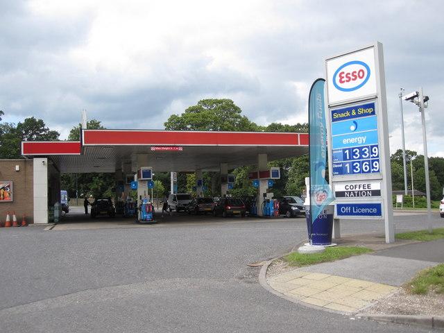 Petrol Station at the Markeaton Roundabout