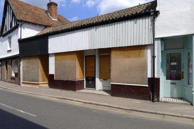Boarded-up Shops, Strand Street, Sandwich