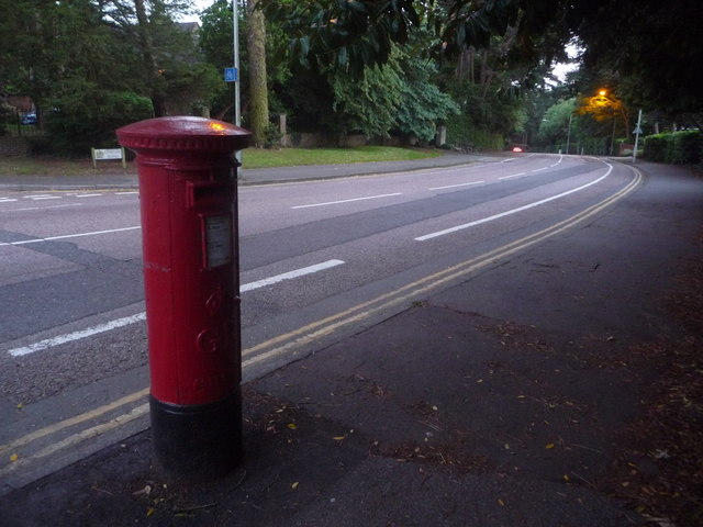 Branksome: replacement postbox in Lindsay Road
