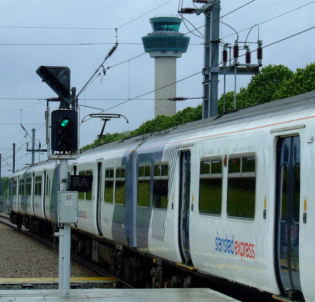 Stansted Express train at Stansted Airport