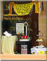 NT5434 : A shop window in Melrose during festival week by Walter Baxter