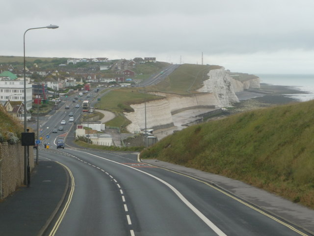 Saltdean: approaching from Brighton by Chris Downer