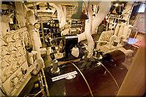 NT2677 : Royal Yacht Britannia, engine room by Alan Findlay