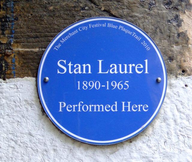 Stan Laurel blue plaque