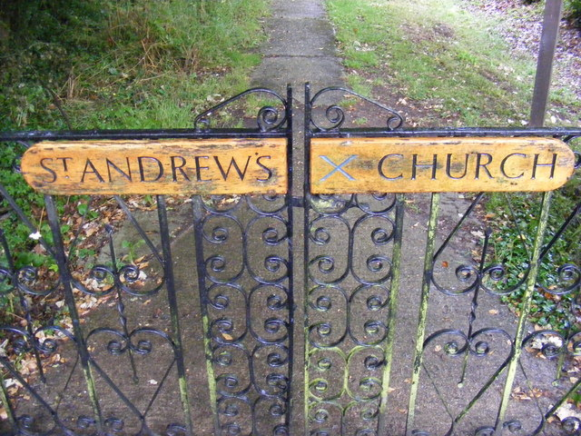 St.Andrew's Church Name sign