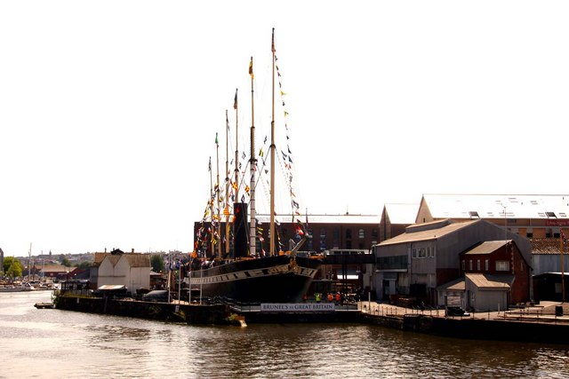 The SS Great Britain in the dry dock