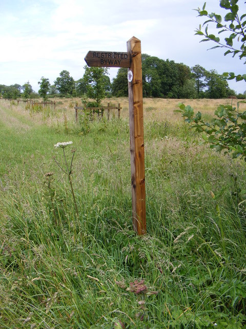 Restricted Byway sign at Keeling Hall