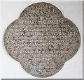 TL2338 : St Mary Magdalene, Caldecote - Memorial by John Salmon