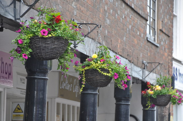 Tiverton : Hanging Baskets © Lewis Clarke cc-by-sa/2.0 :: Geograph Britain  and Ireland