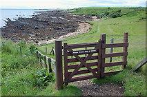 NO5101 : Fife Coast path at Newark by Jim Barton