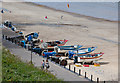 TG2242 : Beach and Fishing Boats at Cromer by Peter Facey