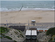 SZ0990 : Bournemouth: East Cliff Lift and lion's pawprints by Chris Downer