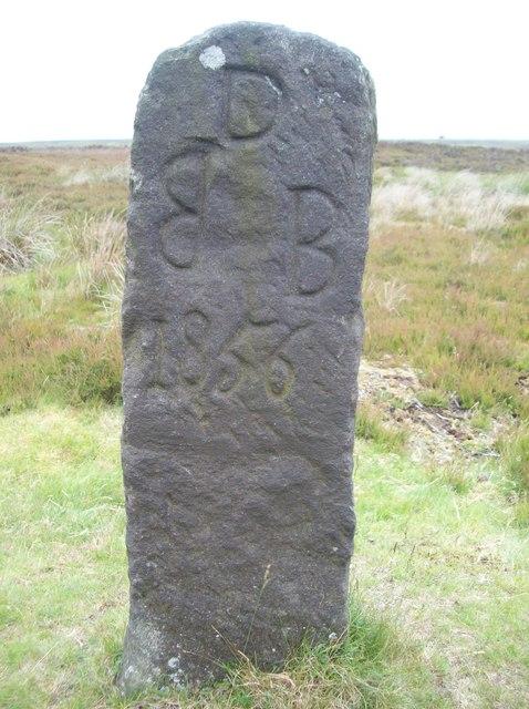 Inscribed Stone near Hipper Sick
