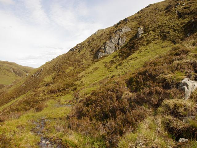 The path up the NE side of Sgurr nan Eun